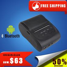 NT-5802LYA 58mm Black Mini Portable Bluetooth Thermal Printer Thermal Receipt Printer 58mm Bluetooth for Andriod POS System(China (Mainland))