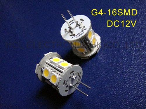 High quality 5050 3 chips 16SMD 12V G4 led lighting,G4 12V led lights ,led G4 lights (free shipping 5pcs/lot)(China (Mainland))