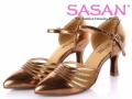 SASAN Professional Dance! SASAN Lady Ballroom Dance Shoes S10 PU Upper 3 Inch Heel Soft Insole Tan and Black Available