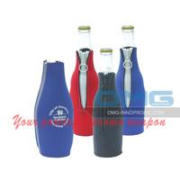 Free shipping!Custom Imprint REAL 3 mm Neoprene Zip-up 330ml Beer Bottle Coolers, Zipper Foldable Can Koozie,Beer Coolies,Holder