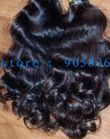 hot sale natural color  super curly  virgin indian hair extension