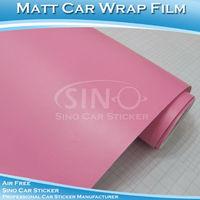 Free Shipping  1.52x30M 5FTx98FT Air Bubble Free Matt Pink Vinyl Film For Car