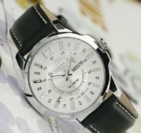Authentic Julius Men's Wrist Watch Quartz Round Fashion Business King Style, Genuine Leather Band  Date Sport Watch JAH-017