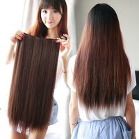 Free Shipping-Promotion! 5 clip-in hair extension/hair pieces one piece for full head 10colors available-Best Price