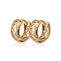 Aliexpress Sale Earring 18K Gold Plated CC Hoop Earrings For Women Bijoux Brincos Earings Fashion 2014 Free Shipping 1E18K-110