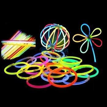 "100pcs 8"" Multi color hot glow stick led color flashing bracelet lighting flash sticks festival item Retail & Wholesale"