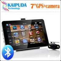 7 Inch Car GPS Navigator,Bluetooth, AV IN, Fm transimitter,MTK,CE6.0,DDR128M,HD 800*480,4GB,free map,Wireless rear view camera