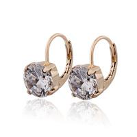 Shopping Festival 18K Gold Plated Hoop Earrings For Women Crystal Zirconia CZ CC Earring Cuff Earring Free Shipping 25E18K-97