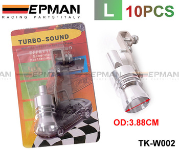 Turbo Whistler/Turbo Sound  L Size Of Universal Turbo Sound Whistler Muffler Exhaust Pipe (color box) 10PCS/LOT TK-W002