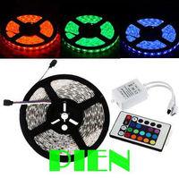 10m RGB 5050 SMD led strip feed de fita tape 12V waterproof +24 Key IR Remote Controller Free shipping 1 set