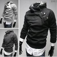 Free Shipping Hot Men Hoodies High Collar Coat arrival Top Brand Men Jackets Men'soutwear 5 Colors Size:M-XXXL Retail Wholesale