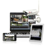 IR waterproof wireless IP camera outdoor, motion detection alarm,  built-in SD card DVR,  2-way audio  + Free shipping
