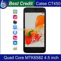 "Free shipping Original Catee CT450 1GB RAM 8GB ROM MTK6582 Quad Core 3G WCDMA 4.5"" QHD 540*960 LCD mobile phones/kate"