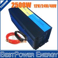 Free Shipping 2500W DC to AC Power Inverter, Peak Power 5000 Watt 12V/24V/48V to 110V/220V Pure Sine Wave Wind Solar Inverters