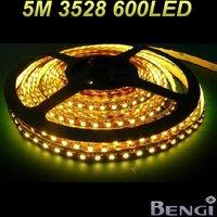 Free Shipping 3528 Non-Waterproof Flexible Strip 1M 120 LED 5m 600 LED DC 12V LED Tape High Bright LED Strip