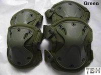 Tactical X-tak Pad, knee pads & elbow pads set,EVA,TPU,1000Dnylon, Lycra CoolMax, 5 colors optional+Free shipping(SKU12050010)