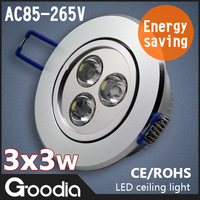 Hot selling,3W led ceiling light,Silver shell,4pcs/lot,CCC&CE&ROHS,AC85-265V,Warm white/cool white,ceiling lamps,Free shipping