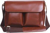 Free Shipping Men  Leather Brown Briefcase Messenger Crossbody Shoulder Bag 8027 New Arrival