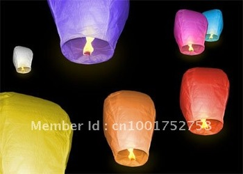 500ps/lot+Free Shipping Oval Sky Lanterns,Mixed Color UFO Sky Wishing Lanterns Chinese Lanterns Party /Wedding / Xmas /Halloween