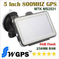 "5"" inch Screen 800*480 3D Display Car GPS & WinCE 6.0 GPS Navigator & dual-core 800MHZ & FM/8GB/DDR256M"