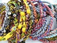 wholesales titanium 3 ropes necklaces titanium magnetic balance sport custom necklace 16/18/20/22 inch 100pcs/lot hot necklace