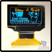 """Free Shipping,3pcs/lot,128x64 0.96"""" inch OLED Module Display,SPI,Parallel,I2C Interface,Blue and Yellow on Black Color"""