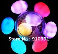Freeshipping colorful led egg,7 led light eggs,Decompressing light Physiotherapy Egg,festival and holiday supply decorating gift