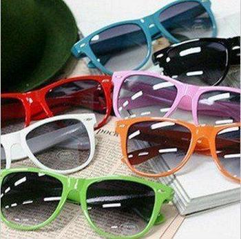 Wholesale 2014 Fashion New Goggles Unisex Wayfarer New 80s Style Joint Multi-coloured Summer Shade Sunglasses