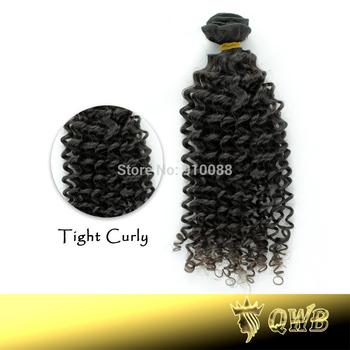 Free Combination 12''~28'' Tight Curly QWB Grade AAAAA Cuticle Aligned Brazilian Virgin Hair
