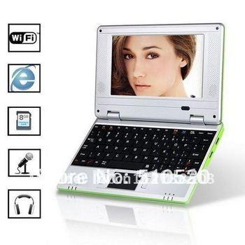 DHL  Free shipping 7 inch VIA8650  mini laptop notebook netbook computer -25pcs