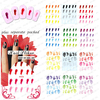 retail 20pcs/lot Colorful Nail Tattoo-1 more than 48 different designs different designs for you, freeshipping
