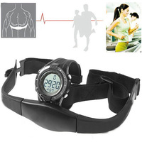 Newest HOT Sport Waterproof  Wireless Heart Rate Monitor Sport Fitness Watch With Chest Strap,Outdoor Cycling