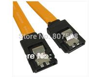 (50pcs/lot) Serial SATA Data Cable Hard Disk Drive HD Data Cable 40cm with Clips ,Serial SATA Data Cable