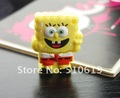 Free shipping ~new arrival discount, rubber  cartoon sponge bob mix 4GB/8GB/16GB  2.0 usb flash drive