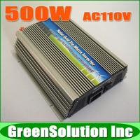 Hot!! 500W Grid Tie Micro Solar Inverter for 600W 18V Solar Panel, DC10.5~28V to AC90~140V MPPT Pure Sine Wave Inverter 500 Watt