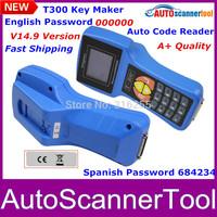 2014 Newest V14.9 Version T300 Key Programmer Spanish/English Optional Language Support Multi-brands Cars Best Quality