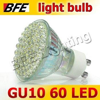 4pcs/Lot 60 LED GU10 Warm/Cold White Lamp Bulbs Spot Light Bright Downlight