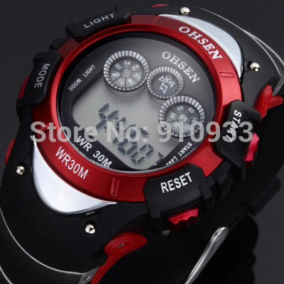 Hot Sale WEIDE military watch COOL 30 meters water resistant men's dual time display sports watch Japan quatz 2color for option(China (Mainland))