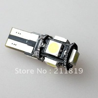 Good sell  50pcs/lot Car CANBUS 194 T10 5050 LED LIGHT BULB 5 SMD