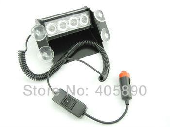 4 LED Strobe Light Car Flash Light 4W Emergency Warning Light 12V