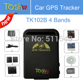 Promotion----Free Shipping Factory Sale Stable COBAN GPS Tracker TK102B Vehicle / Car GPS tracker TK102 Quadbands Dropshipping