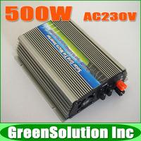 MPPT On Grid Inverter 500W Grid Tie Inverter for Solar System, DC10.5~28V to AC180~260V Pure Sine Wave Inverter, CE, RoHS
