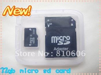 Big Discount!!! FREE Shipping 16GB MicroSD Micro SD TF Flash Memory Card + Adapter