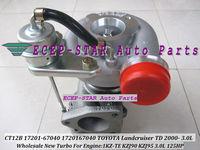 CT12B 17201-67040 Turbine Turbocharger For TOYOTA LANDCRUISER 1KZ-TE KZJ90 KZJ95 2000-;4-RUNNER TD HI-LUX 1993- KZN130 3.0LD