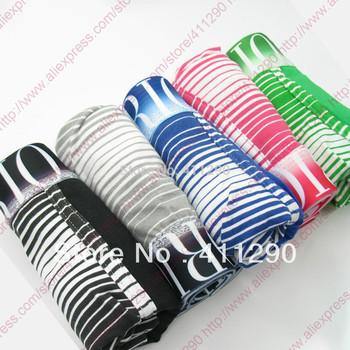 5 Pcs/lot Striped Men's Underwear Best Quality Cotton Sexy Boxers Men Shorts