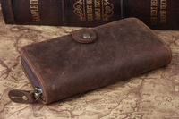 Free shipping men fashion wallet credit card holder vintage cowhide leather purse 4027