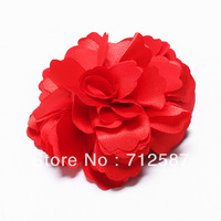 Lady Bridal Satin Peony Flower Hair Clip Brooch 2pcs/lot~free shipping#5170