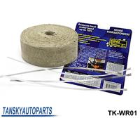 Tansky - CO** IT (10meter) Thermal Wrap,exhaust insulating warp,header warp,exhaust pipe warp have in stock TK-WR01
