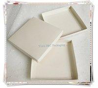 Hot 16.5 x 16.5cm Metallic Ivory 2PC Party Invitation Boxes (JCO-00Z3)