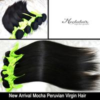 Top quality peruvian mocha hair 3 pcs Lot 6A peruvian virgin hair extension Wholesale straight human hair weaves Free Shipping